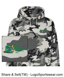 Independent Trading Co. Adult Hooded Camo Pullover Sweatshirt Design Zoom